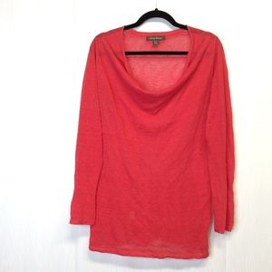 Tommy Bahama Gauze Tunic Top Size S Coral Red